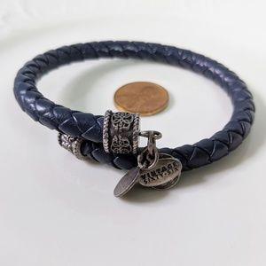 Alex and Ani Slate Gray Rafaelian Silver Bracelet